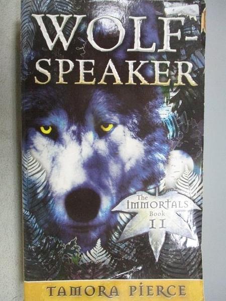 【書寶二手書T8/原文小說_CPZ】Wolf-Speaker_Tamora Pierce