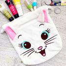 日本迪士尼瑪麗貓刺繡毛絨束口袋 抽繩袋 收納袋 大容量多功能收納 交換禮物 貓迷