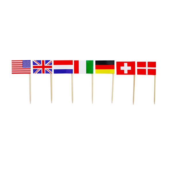 牙籤50入-世界國旗
