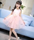 女童禮服公主裙連身裙夏裝2019新款中大兒童洋裝洋氣裙子HT755