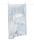 【美國 Little Giraffe】嬰兒被|頂級攜帶毯 - 天鵝絨嬰兒毯(藍色款)  VLSSBKTBL