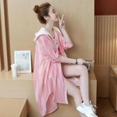 時尚防曬衣服超仙女2020中長新薄款夏季雪紡打底開衫長袖外套洋氣 Korea時尚記