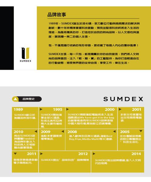 SUMDEX  簡約側肩包NOA-758TK柚木色