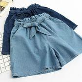 女童牛仔短褲裙褲夏裝2018新款寬鬆可愛闊腿褲胖大童裝12-15歲mm   初見居家