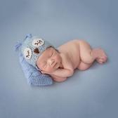 限定款攝影棚道具組寶寶拍照道具帽子貓頭鷹造型影樓百天滿月拍攝服飾兒攝影棚道具組