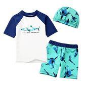 兒童泳衣男童泳褲泳帽套裝分體速干泳衣