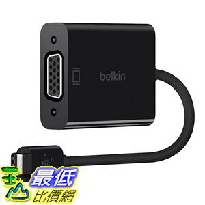 [8美國直購] 轉接頭 Belkin USB-IF Certified USB Type-C to VGA Adapter (5.9 Inches) (F2CU037btBLK)