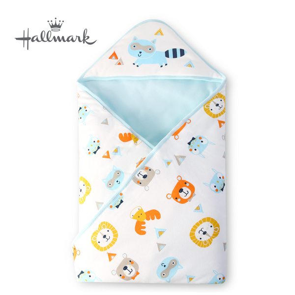 Hallmark Babies森林小動物包巾/毯子 HH3-N06-A2-AB-ME