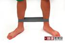瑜珈伸展健身訓練環狀阻力帶-灰色
