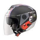 [東門城] ASTONE RS T62(平黑/藍紅) 半罩式安全帽 內藏墨片