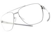 Ic! Berlin光學眼鏡 FRANCESCA M. CHROME (銀) 雙槓時尚造型框 薄鋼眼鏡 # 金橘眼鏡