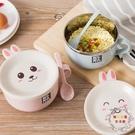 泡面碗套裝蓋湯碗筷餐具家用304不銹鋼帶...