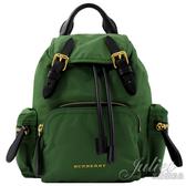 茱麗葉精品【全新現貨】BURBERRY 40759711 THE RUCKSACK 軍旅後背包.綠 (小款)