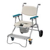 【光星NOVA】鋁製附輪可收合洗澡椅馬桶椅 NCS-017C