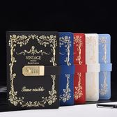 密碼本日記本帶鎖筆記本手賬本筆記本文具—聖誕交換禮物