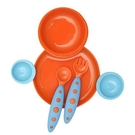 特價 boon 互組碗盤餐具組 (橘藍)_BN01094
