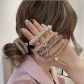 【NiNi Me】髮飾 氣質甜美水晶珍珠吊牌髮圈髮束 髮束 H9527