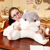 倉鼠抱枕被子兩用靠背護腰靠墊靠枕辦公室腰墊靠背墊座椅枕頭椅子
