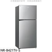 【南紡購物中心】Panasonic國際牌【NR-B421TV-S】422公升雙門變頻冰箱晶漾銀