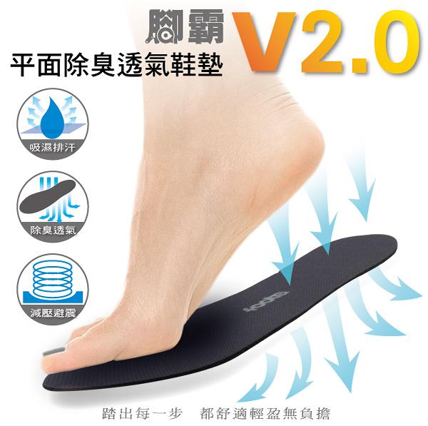 腳霸 foota 平面除臭透氣鞋墊V2.0 搭配除臭襪 輕鬆消除腳臭