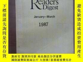 二手書博民逛書店Reader s罕見Digest January -March 1987 讀者文摘 (美國版) (1987年1-3