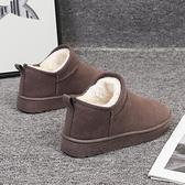 雪靴 網紅瘦瘦短靴女新款時尚秋冬加厚加絨雪地靴斜筒短筒棉鞋韓版