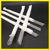 奶茶吸管紙質包裝粗吸管1.2*23cm獨立包裝透明大吸管牛皮紙包吸管
