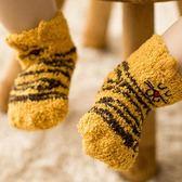 嬰兒襪子 寶寶地板鞋襪防滑兒童中筒男女新生兒秋冬保暖襪子 SDN-1196