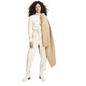 Gap女裝時尚純色單排扣平駁領大衣512874-駝色