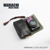 Mekee相機包索尼RX100M6黑卡M7M5A皮套理光GR3佳能G7X3M2犛牛皮袋 格蘭小舖