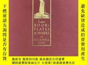 二手書博民逛書店限量編號簽名本:《肯特藏書票大全》罕見Later Bookplates & Marks of Rockwell K