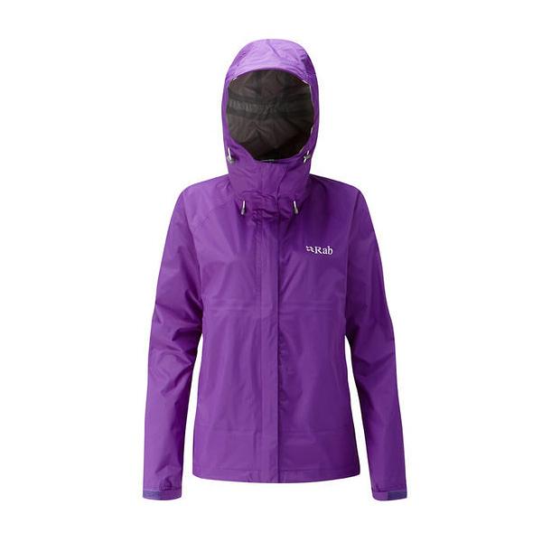 [Rab] (女) Downpour Jacket 防水透氣連帽外套 魔鬼茄紫 (QWF-63-NI)