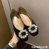 豆豆鞋秋季新款韓版平底方頭奶奶鞋時尚百搭舒適單鞋女瓢鞋子 居家物語
