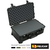 美國 PELICAN 派力肯 塘鵝 1510 輪座拉桿氣密箱-含泡棉 黑色 公司貨