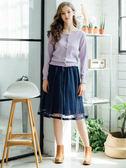 秋冬出清價[H2O]立體亮片花朵裝飾棉感線衫長袖外套 - 白/淺綠/淺紫色 #8630009
