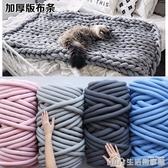 ins絨布條超粗毛線徒手編織毯子不掉毛寵物貓窩抱枕diy纏床防撞 生活樂事館