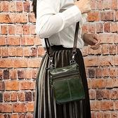 真皮側背包-復古經典純色牛皮女肩背包6色73xc24[時尚巴黎]