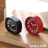 創意學生用兒童靜音鬧鐘女床頭電子時鐘簡約鐘可愛卡通小擺件鐘錶 聖誕節