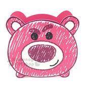 〔小禮堂〕迪士尼 熊抱哥 木製造型筆筒《桃.大臉.蠟筆風》收納筒 5713051-71804