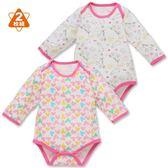 日本西松屋 厚棉活肩式長袖包屁衣二件組 白獨角獸 女寶寶童裝【NI0260300】