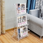 雜志架報刊架書報架資料架落地歐式鐵藝 宣傳展示架子立體書架YTL
