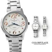 Valentino范倫鐵諾 大數字美學不鏽鋼手錶對錶 原廠公司貨【NE995】單支