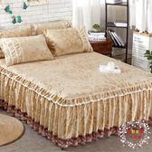 全館82折-床裙床裙夢思床罩單件韓式1.51.8米天鵝絨保護墊套床笠
