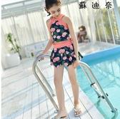 女童平角泳衣生泳裝大碼兒童游泳衣