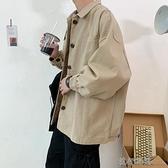 港風寬鬆工裝外套男韓版潮流原宿學生日系痞帥夾克外衣風衣