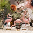 創意北歐風桌面INS火烈鳥動物擺件臥室客廳店鋪櫥窗裝飾品擺設 青木鋪子
