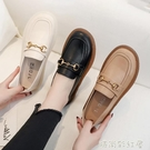 牛筋底單鞋女白色護士鞋防滑休閒女鞋舒適軟皮軟底上班黑色小皮鞋「時尚彩紅屋」