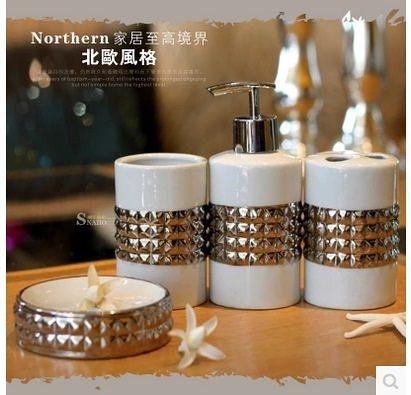 鍍銀陶瓷衛浴四件套-TR655