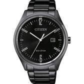【CITIZEN】星辰 Eco-Drive 光動能時尚手錶-黑/42mm BM7355-82E
