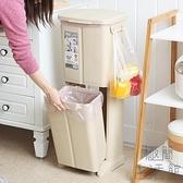 北歐干濕分離創意雙層腳踩分類垃圾桶廚房家用帶蓋【極簡生活】
